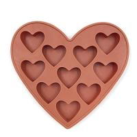 Buy 10 Cavities Silicone Heart Shaped Ice Cube Trays For Chocolate Ice Cream Cake at wholesale prices
