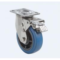 Quality SUS304 Stainless Steel PU Caster Wheel Heavy Duty Dual Ball Heat Treated Raceways for sale