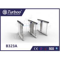 Quality Anti - Collision slience multiple Smart glass office  barrier optical low cost pedestrian  turnstiles for sale