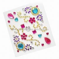 Quality Rhinestone 3D stickers for mobile phone decoration for sale