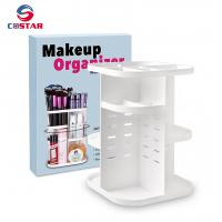 Quality 360 rotating glam caddy spinning makeup organizer stand cosmetic store storage display shelf for sale