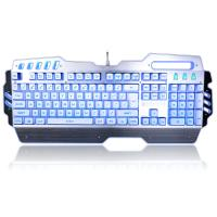 Quality PC Gaming Office Waterproof Mechanical Keyboard With LED Backlit 104 Keys for sale