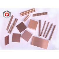 Quality 10 - 50% W Copper Tungsten Alloy , High Intensity WCu Alloy Plate for sale