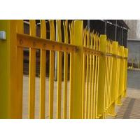 Quality PVC Coated Metal Palisade Fence Panels European Style For Road / Railway for sale