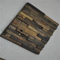 China Boat Wood Mosaic Wall Panels , 3D Ceiling Tiles For Hotel Decoration on sale