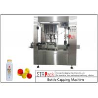 Quality Press Push On Automatic Bottle Capping Machine 8 Heads For Edible Oil / Talcum Powder for sale