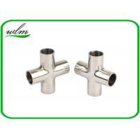 Quality Mirror Polishing Sanitary Pipe Fittings Cross Pipe Fittings For Pharmaceutical Engineering for sale