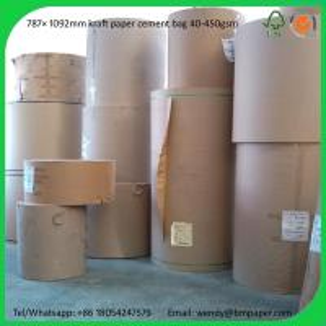 China BMPAPER High Quality Brown Kraft Liner Paper/Kraft Paper/Kraft Paper Roll  for cement bags on sale