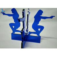 Quality Blue Acrylic Shapes Craft / Acrylic Stand For Office Decoration Gifts for sale