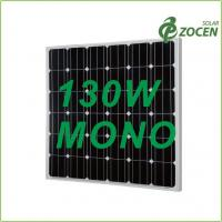 Quality Black Iridescent Blue 130W Monocrystalline Solar Panels with 0 - 3% Positive Output for sale