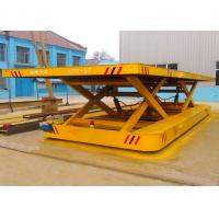 Quality Cement Plant Scissor Lifting Table Track Vehicle For Large Capacity for sale