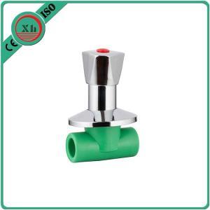 Quality Ppr Plastic Water Shut Off Valve Polypropylene Random Base Brass Element for sale