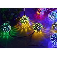 Quality Morocco Ball Solar LED String Lights , Colorful Solar Party String Lights for sale