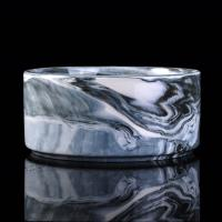Quality 900ml Marble Candle Jar For Scented Candle , Marble Candle Container for sale
