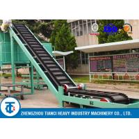 Quality Food Factory Fertilizer Conveyor Belt Large Angle Sidewall Model ISO Approved for sale