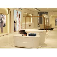 Quality Beautiful White Color Retail Clothing Fixtures For Lady Clothing Display for sale