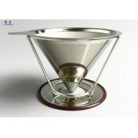 Quality Reusable Pour Over Coffee Filter Stainless Steel Stable V Style Dripper for sale