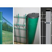 Quality Security Welded Steel Wire Fencing / Triangle Bending Garden Mesh Fence for sale