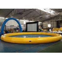 Quality Portable Round Indoor Inflatable Swimming Pool With Waterproof 0.9mm PVC for sale