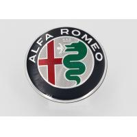 Quality Automotive Plastic Molding 3D Plastic Car Logo / Emblem / ABS Chrome Car Badge With Brand Alfa Romeo for sale