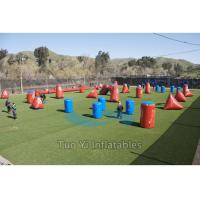 Quality Obstacle Airsoft Speedball Inflatable Bunkers For Paintball Shooting Sports for sale