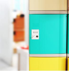 Quality Vandal Resistant Green School Lockers , Swimming Pool Small Plastic Lockers for sale