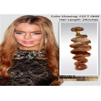 "Quality 10"" - 26"" Brazilian Ombre Remy Human Hair Extensions Loose Wave 1B / 27 Blonde Hair for sale"