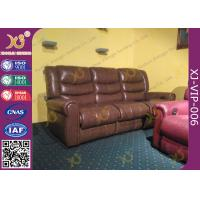 Quality High Density Sponge Seat Back Home Theater Sofa ,Brown  Leather Electric Recliner Chair for sale