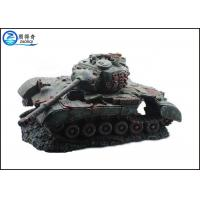 Quality Non-toxic Fish Tank Decorations Artificial with Battle Tank Resin Ornaments for sale