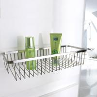 Buy Chrome Layers Stainless Steel Bathroom Accessory Single Corner Shower Wire Basket at wholesale prices