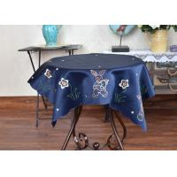 Quality Unique Square Decorative Table Cloths Chemical Fiber Multiple Colors Embroidered for sale