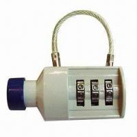 Quality 3 digits bottle shape combination padlock, made of zinc alloy for sale