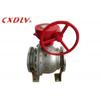 Quality DN150 6 Inch 2PC Trunnion Ball Valve CF8M Stainless Steel Split Body Price for sale