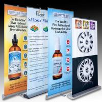 Quality Retractable Banner Stands , advertising aluminum roll up banner stand for sale