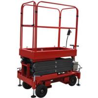 Quality Red Mobile Elevated Working Platforms , 2.25 × 1.16 × 1.11m Hydraulic Scissor Lift for sale