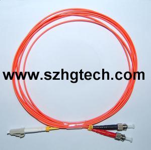 Quality LC/ST Duplex MM Fiber Optic Patch Cable,LSZH,3.0MM for sale
