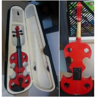 Buy Red Adult Full Size Solid Basswood Electric Violins With Ebonized Fingerboard at wholesale prices