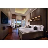 Buy Hotel Room Furniture Fabric Upholstered Wall Panel for Bed Headboard with Hanger at wholesale prices