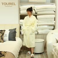 China 5 Star Luxury Hotel Spa Bathrobes White 100% Cotton Velour For Woman And Man on sale