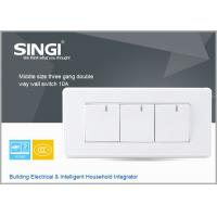 Quality PC copper material serivce three gang  white,champagne Electrical wall switches socket for sale