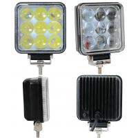 Quality 27W Truck Mounted Work Lights , 4D 4 Inch Square Led Work Lights 1800lm Lumens for sale
