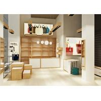 Buy Nature Style Wooden Handbag Display Cabinet Display Design With Custom Logo at wholesale prices