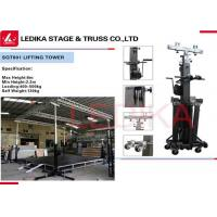 Quality Heavy Duty Clamp 2 - 6 M Lift Tower Crank Stand Truss Elevator Tower With Wheels for sale