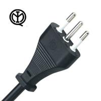 Quality Standard 10A 250V Italy Power Cord Three Prong 3 Wire IMQ Approval for sale