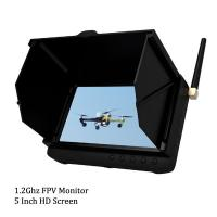 Quality 1.2Ghz Ground Station HD Wireless 5 inch FPV Monitor / Receiver Support 32GB TF Card for sale