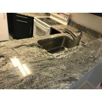 Quality Decorative White Quartz Kitchen Countertops , Solid Surface Kitchen Countertops for sale