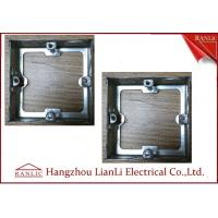 Quality Steel Electrical Gang Box Extension Ring With Adjustable Ear 20mm 25mm Knockouts for sale