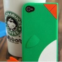 Quality Cute Penguin Pattern Silicon Case for iPhone4 (HR-IPC-001) for sale
