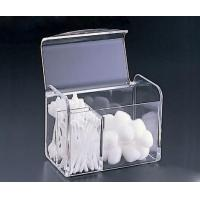 Quality Clear Acrylic Cotton Swab Box With Beautiful Shape for sale