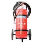 Quality Safe ABC Powder Fire Extinguisher , Hospital 50Kg Trolley Foam Fire Extinguisher for sale